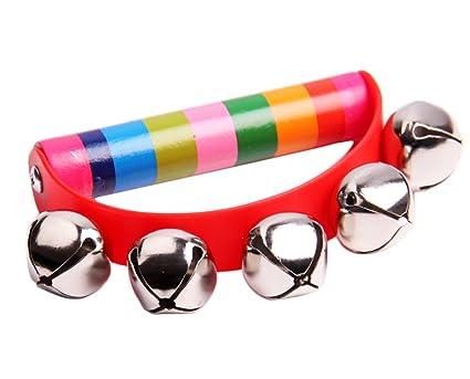 Lovely Baby Toddler Rainbow Wrist Foot Bell Rattle Pram Crib Shaker Toy   YJ