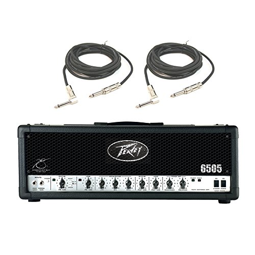 Peavey 6505 Electric Guitar Metal 120W Amplifier Speaker Tube Amp Head & Cables (Renewed)