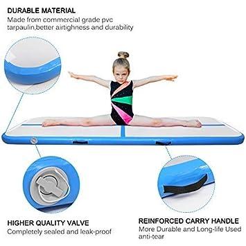 AGM Gymnastikmatte 300x100x10cm,Air Track aufblasbare Gymnastikmatte mit elektrischer Luftpumpe f/ür zuhause Yogamatte Gym Training Trainingsmatten Turnmatte Weichbodenmatte Fitnessmatte