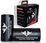 Vikingstrength - Thick Grips, Give Any Bar, Dumbbell, Barbell or Machine Fat Bar Grips for Increased Muscle Growth - Get Bigger Forearms, Biceps, Triceps and Chest (Black)
