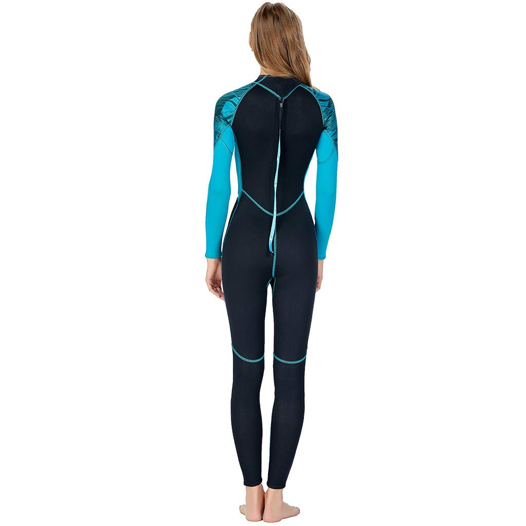 Meidexian888 Super Stretch Swimsuit,Full Body Wetsuit Surf Swim Diving Steamer for Women (Blue, XS) by Meidexian888 (Image #4)