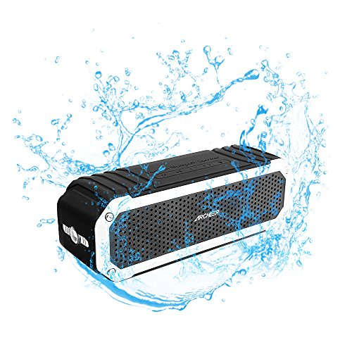 Archeer A226 Portable Bluetooth Speakers Outdoor Sport Shower Wireless Speaker with Light, Clip, Microphone, (Spice Mobile)