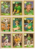 Oakland Athletics 1987 Topps Baseball Master Team Sets with Year-End Traded Cards (36 Cards)** Joaquin Andujar, Dusty Baker, Jose Canseco, Ron Cey, Chris Codiroli, Mike Davis, Dennis Eckersley, Rickey Henderson, Donnie Hill, Jay Howell, Reggie Jackson, Stan Javier, Dave Kingman, Carney Lansford, Tony LaRussa, Mark McGwire, Dwayne Murphy, Gene Nelson, Tony Phillips, Eric Plunk, Luis Polonia, Jose Rijo, Terry Steinbach, Dave Stewart, Mickey Tettleton, Curt Young and More