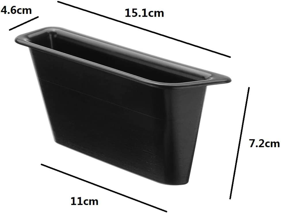 ACAMPTAR Black Front Row Door Side Storage Box Handle Pocket Armrest Phone Container Compatible With Mustang 2015 2016 2017 2018 2019