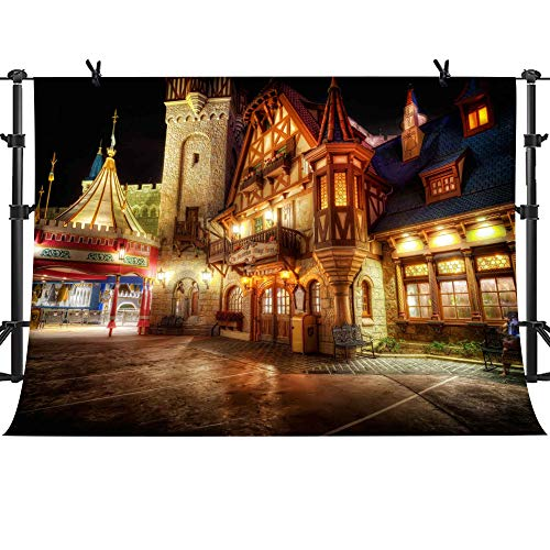 MME 10x7Ft Dream Castle Night Scenery Background Video Studio Photograph Backdrop NANME300