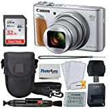 Canon PowerShot SX740 HS Digital Camera (Silver) + 32GB Memory Card + Point & Shoot Case + USB Card Reader + Lens Cleaning Pen + LCD Screen Protectors + Photo4Less Cleaning Cloth – Accessory Bundle