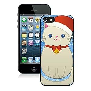 diy phone caseCustomized Portfolio Iphone 5S Protective Cover Case Christmas Snowman Cat iPhone 5 5S TPU Case 1 Blackdiy phone case