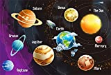 CSFOTO 5x3ft Background for Solar System Planets Name Photography Backdrop Universe Space Rocket Astronomy Mystery Explore Earth Mars Children School Education Photo Studio Props Polyester Wallpaper