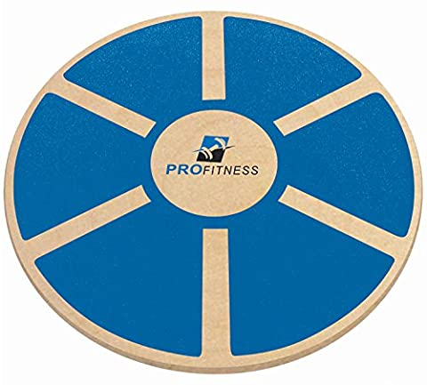 ProFitness Wooden Balance Board (15.5-inch by 3.1-inch) - Exercise, Fitness and Physical Therapy - Non-Slip Safety Top - Tone Muscles, Strengthen Core and Injury - Wooden Balance Board