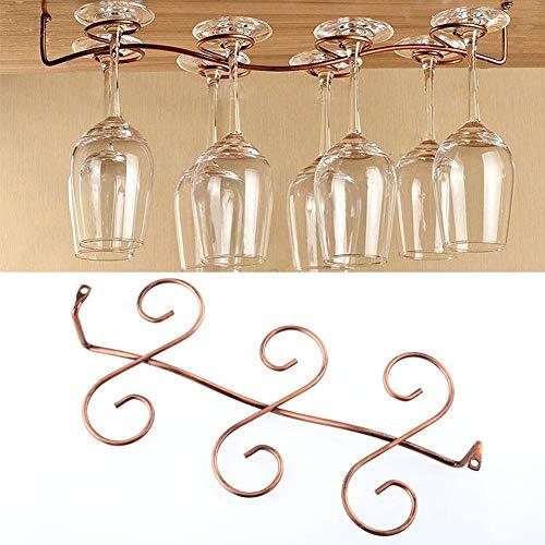 Autumn Water 6 Wine Glass Rack Stemware Under Cabinet Holder Hanger Shelf Kitchen Display ()