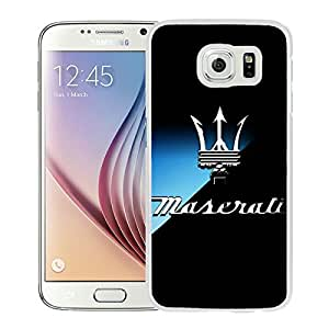 Maserati logo 6 WhiteHigh Quality Custom Samsung Galaxy S6 Protective Phone Case