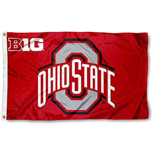 (College Flags and Banners Co. Ohio State Buckeyes Big 10 Flag)