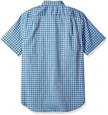Nautica Men's Short Sleeve Slim Fit Plaid Button Down Shirt