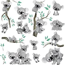RoomMates RMK2867SCS Koalas Peel and Stick Wall Decals (Set of 4), 10-Inch X 18-Inch