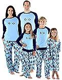 SleepytimePjs Holiday Family Matching Fleece Winter Penguin Pajama PJ Sets-Womens (STMF-3026-W-MED)