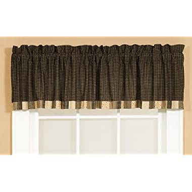 Kettle Grove Block Border Valance Window Treatment