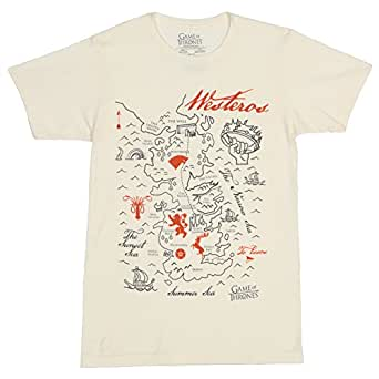 Game of Thrones - Westeros Map - T-Shirt (XXX-Large)