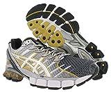 ASICS Men's Kinsei 4 Running Shoe,Black/White/Gold,16 M US