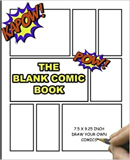 blank comic book for kids 75 x 925 130 pagesfor drawing your own comics ideas and sketches