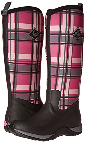 Muck Boot Women's Arctic Adventure Tall Snow Boot, Black/Pink Plaid, 9 M US by Muck Boot (Image #6)