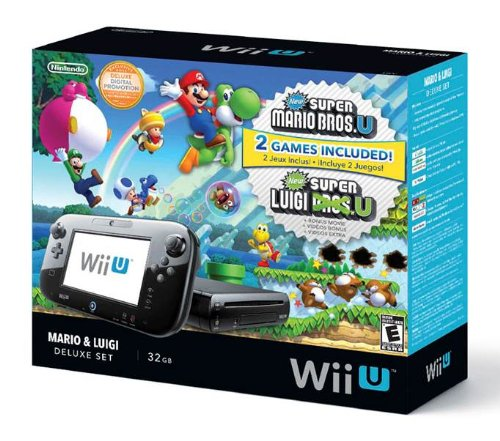 Nintendo Wii U Deluxe Set: New Super Mario Bros- U and New Super Luigi U