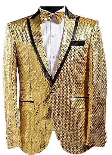 Hommes Vêtements De Pour Blazer Manteau Golden Sport Kangqi Paillettes ATxwEdAq