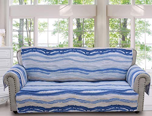 Barefoot Bungalow Crystal Cove Slipcover, Sofa, Blue ()