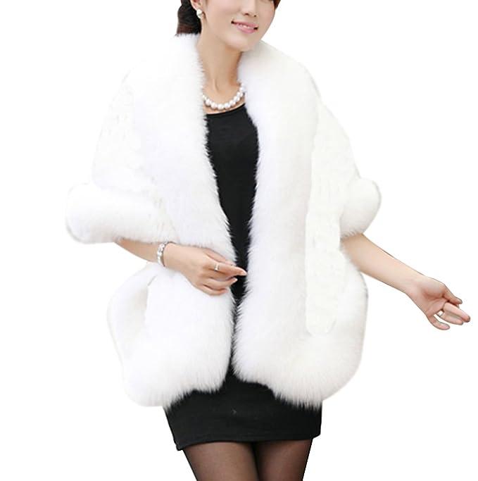 watch 22fd8 b161d LaoZan Donna Parka Faux Fur Pelliccia ecologica Cappotto ...