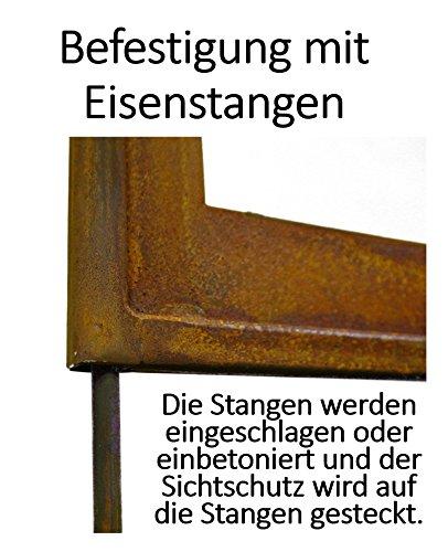 Metallmichl Edelrost Paravent Pusteblume Hohe 200cm Breite 100cm