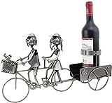 BRUBAKER Wine Bottle Holder Couple on Tandem