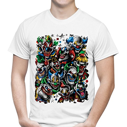 Custom Personalized Army Of Clowns White T-Shirt
