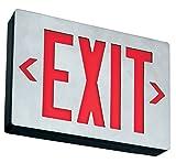 Lithonia Lighting LE S 1 R EL N SD Aluminum LED Emergency Exit Sign