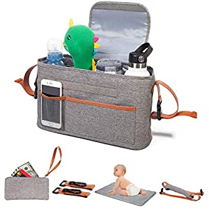 Yourscent Baby Stroller Organizer with Cup Holders Insulated, Waterproof, ACCESSORIES INCLUDED, Large Storage, Universal…