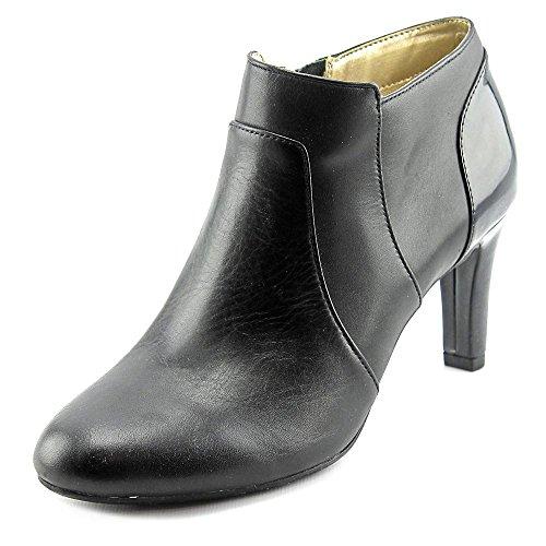 Bandolino Women's Liron Ankle Bootie, Black, 10 M US (Leather Heels Bandolino)