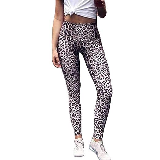 Yoga Pantalones Atléticos,Estampado de Leopardo mujer ...