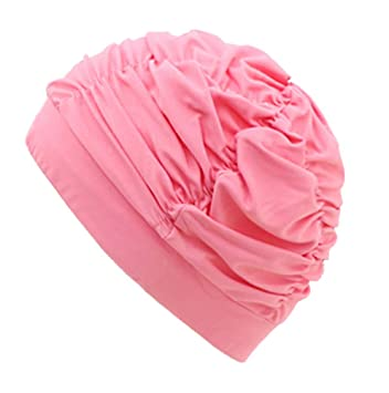BLANCHO BEDDING Paquete de 2 Gorras de baño Plisadas de Color ...