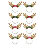 "Amscan Fun-Filled Christmas & Holiday Party Santa's Reindeer Pack Headbands, Multicolor, 8"" x 7 7/8"""