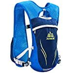 Azarxis Running Hydration Vest Backpack Pack Ultra Trail Race Chaleco Hidratacion 5.5L with Water Container for Men Women Marathon Hiking Camping Cycling