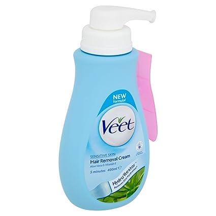 Veet Hair Removal Cream With Aloe Vera Vitamin E For Sensitive