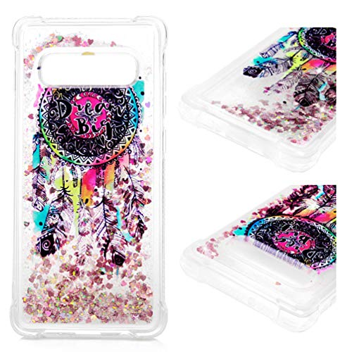 - Galaxy S10+ Plus Case, Luxury Bling Glitter Sparkle Shell 3D Sparkle Glitter Quicksand Flowing Liquid TPU Bumper Cover with Reinforced Corners Anti-Scratch for Samsung Galaxy S10+ Plus Totem