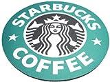 スターバックス Starbucks ロゴ・マウスパッド 大型20cm サンタ マイクロファイバークロス付属