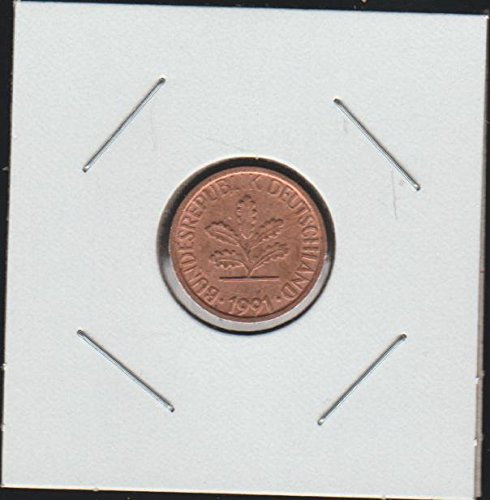 1991 Germany Five Oak Leaves Penny Choice Extremely Fine
