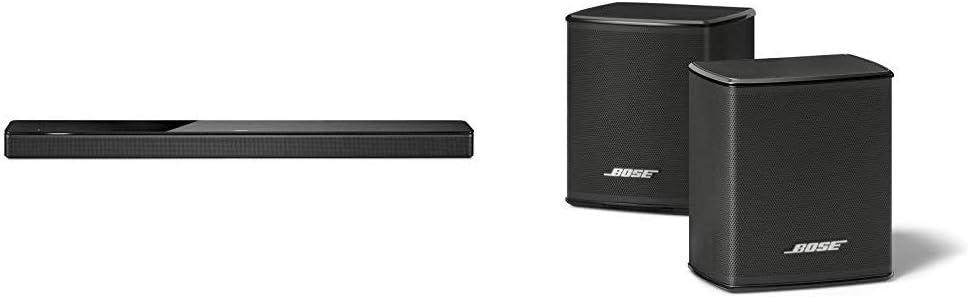 Bose - Barra de sonido 700, negro + Surround Speakers, negro, con Alexa integrada
