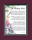 A Wedding Poem, #113, Double-matted in Burgundy Over Dark Green and Enhanced with Watercolor Graphcs.