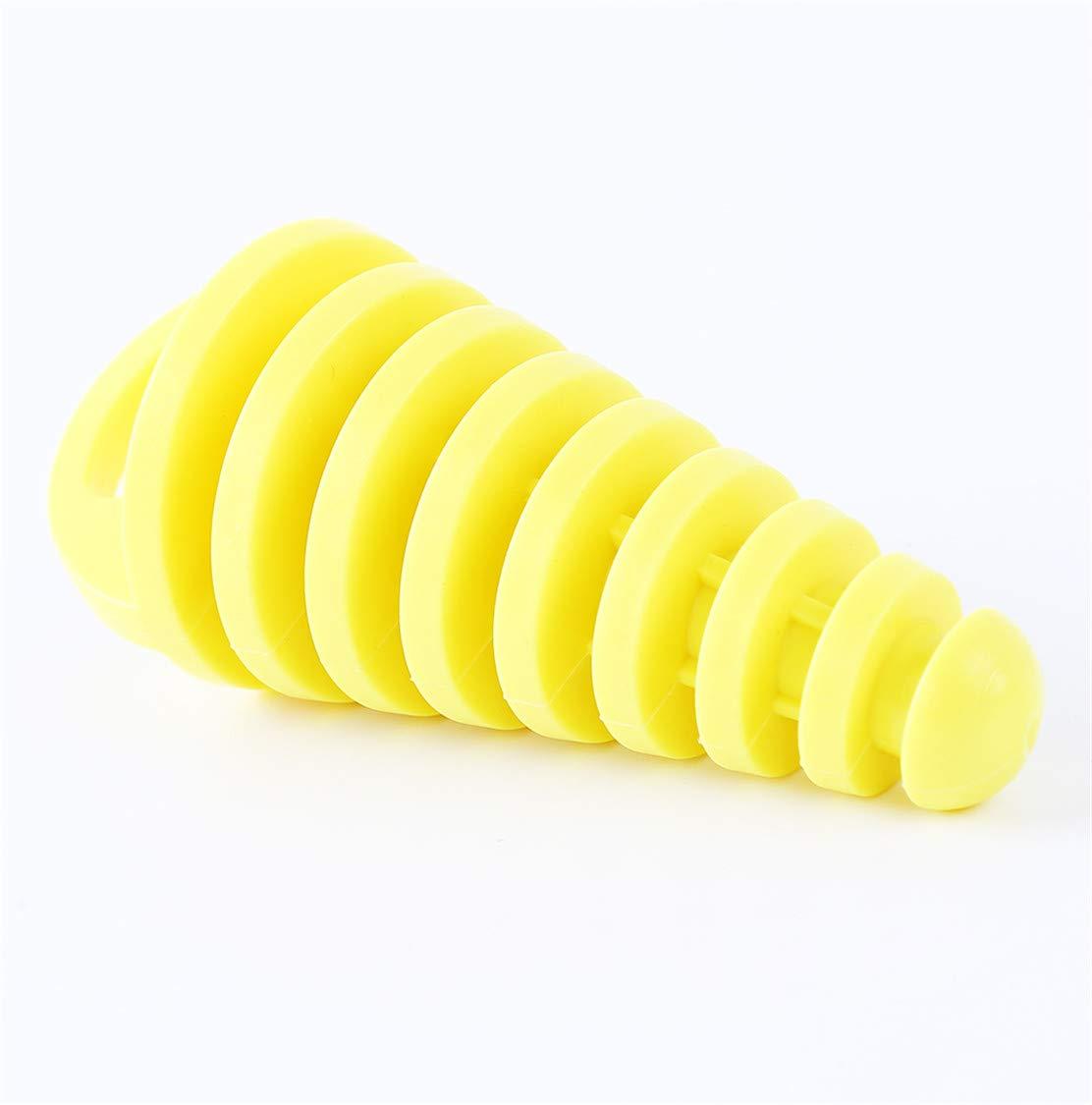 Idiytip Muffler Pipe Exhaust Silencer Wash Plug for Motorcycle Dirt Bike Yellow