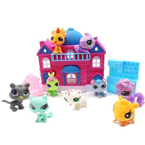 ights Pet Retreat Sweet House Toy Big Family House Castle For Little Pet Shop (Random Colour) ()
