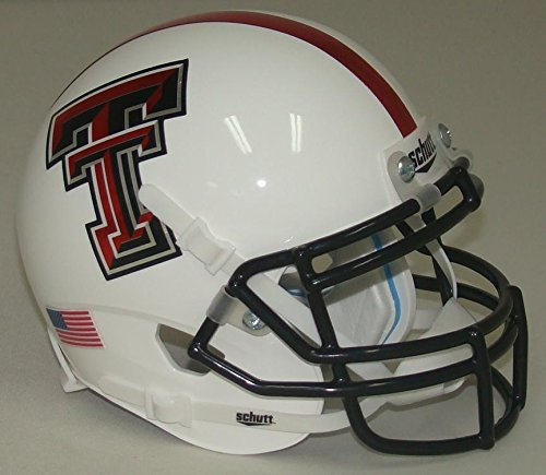 Texas Tech Mini Helmet (NCAA Texas Tech Red Raiders Mini Helmet, One Size, White)
