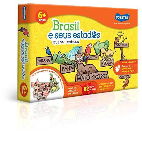 Brasil e Seus Estados Quebra Cabeça 82 Peças Toyster Brinquedos