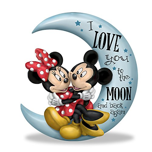- The Hamilton Collection Disney Mickey Mouse and Minnie Mouse I Love You to The Moon and Back Figurine