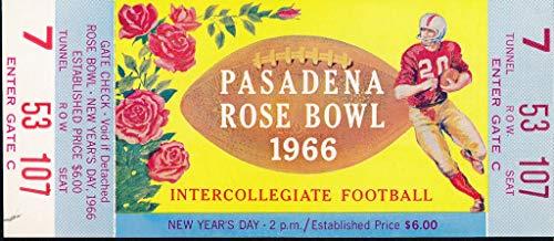 (1966 Rose Bowl Unused Full Ticket Purdue vs. Southern California 142724)